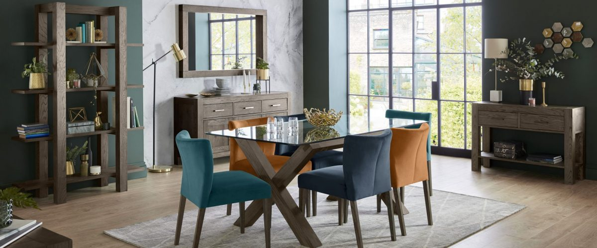 Turin Dark Oak Dining by Bentley Designs