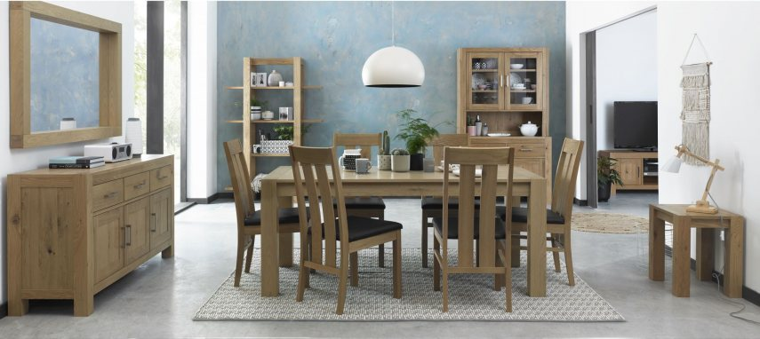Turin Light Oak Dining by Bentley Designs