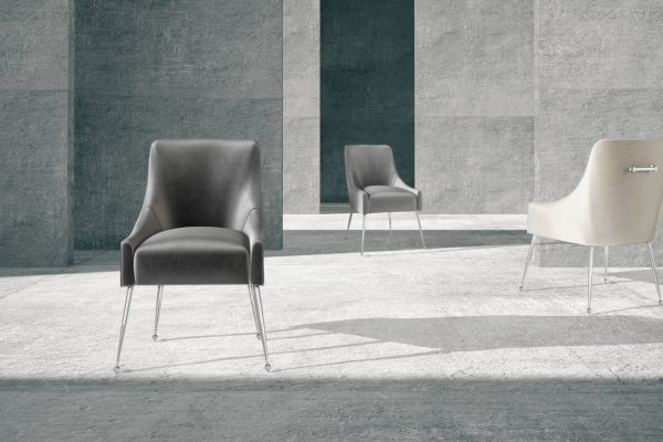 Claudia Velvet Dining Chairs by Torelli