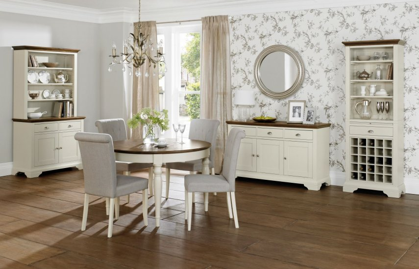 Hampstead Soft Grey & Walnut Dining