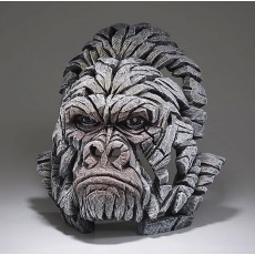 Gorilla Bust (White finish) - Edge Sculpture