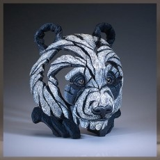 Panda Bust (Black & White finish) - Edge Sculpture