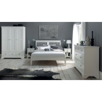 Hampstead White Slatted Headboard