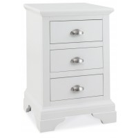 Hampstead White 3 Drawer Nightstand