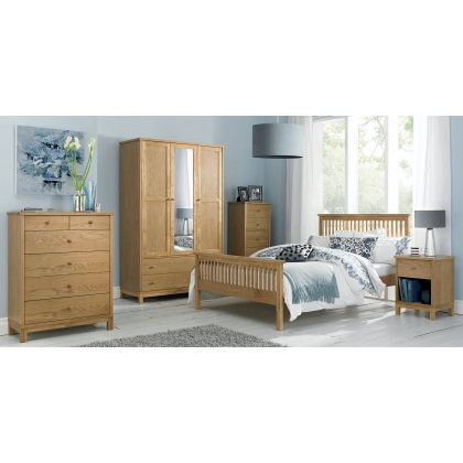 Atlanta Oak Bedstead (High Footend)