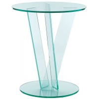 GreenApple Round Occasional Table With V-Shape Base