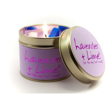 Lavender & Lime Scented Candle Tin