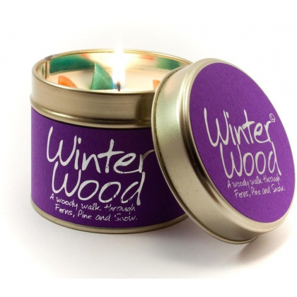 Winter Wood Scented Candle Tin