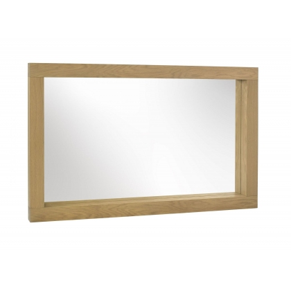 Turin Light Oak Large Landscape Mirror