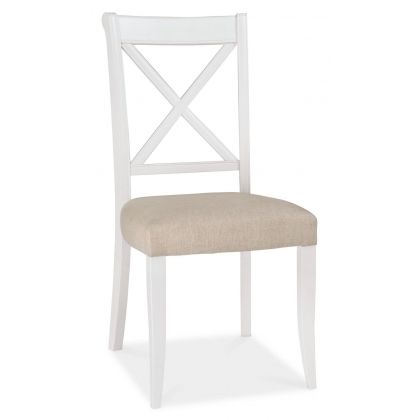 Hampstead Two Tone X-Back Chair (Sand Fabric)