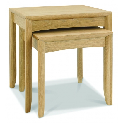 Bergen Oak Nest of Lamp Tables