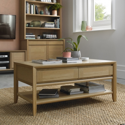 Bergen Oak Coffee Table with Drawer