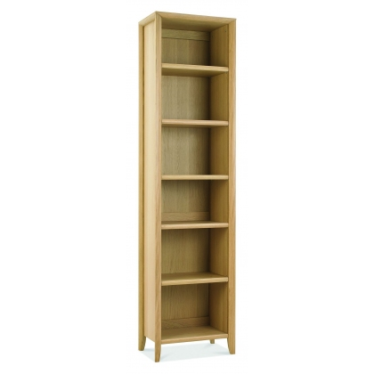 Bergen Oak Narrow Bookcase