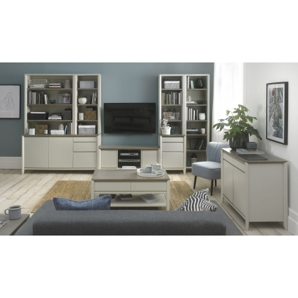 Bergen Grey Washed Oak & Soft Grey Narrow Top Unit