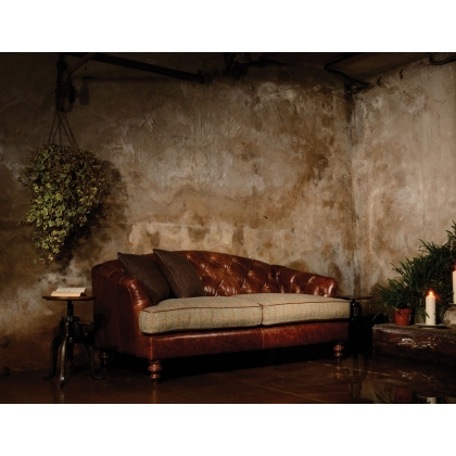Dalmore Petit Sofa (Tweed & Hide) by Tetrad Harris Tweed