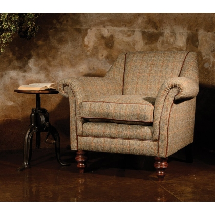 Dalmore Accent Chair (All Tweed) by Tetrad Harris Tweed