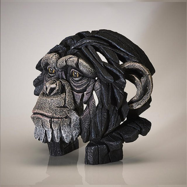 Chimpanzee Bust - Edge Sculpture