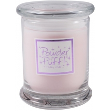 Powder Puff Candle Jar
