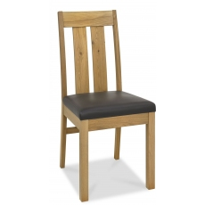 Turin Light Oak Slatted Chair