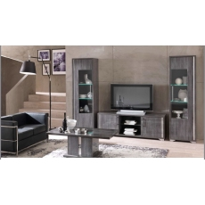 Giorgio 1 Door Glass Cabinet with LED by San Martino