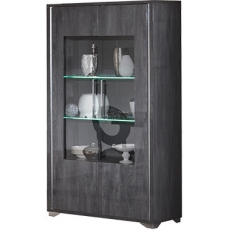 Giorgio 2 Door Glass Cabinet with LED by San Martino