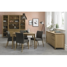 Bergen Oak 2-4 Seater Extension Dining Table