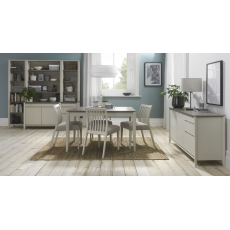 Bergen Grey Washed Oak & Soft Grey 4-6 Seater Extension Dining Table