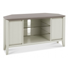 Bergen Grey Washed Oak & Soft Grey Corner Entertainment Unit