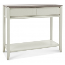Bergen Grey Washed Oak & Soft Grey Console Table with Drawer