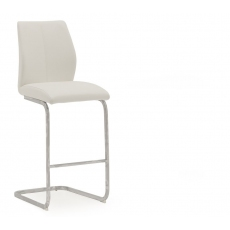Ellis Bar Stool (White & Chrome)