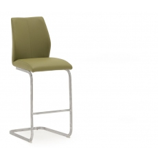 Ellis Bar Stool (Olive & Chrome)