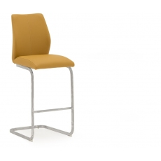 Ellis Bar Stool (Pumpkin & Chrome)