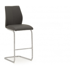 Ellis Bar Stool (Grey & Chrome)