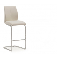 Ellis Bar Stool (Taupe & Chrome)