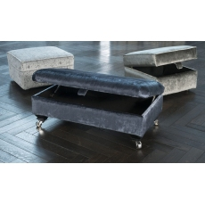 Fleming Legged Ottoman by Alstons