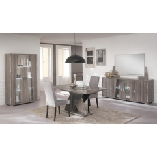 Teverly 2 Door Glass Cabinet with LED by San Martino