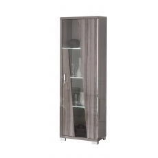 Teverly 1 Door Glass Cabinet with LED by San Martino