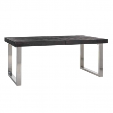 Blackbone Extending Dining Table (Extends from 195-265cm) - Silver Collection