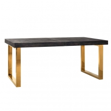 Blackbone Extending Dining Table (Extends from 195-265cm) - Gold Collection