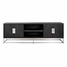 Blackbone 185cm TV Sideboard - Silver Collection