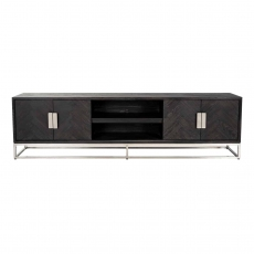 Blackbone 220cm TV Sideboard - Silver Collection