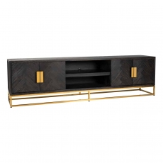 Blackbone 220cm TV Sideboard - Gold Collection