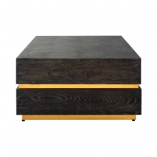 Blackbone 150 x 80cm Block Coffee Table - Gold Collection
