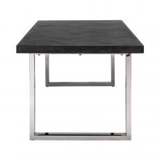 Blackbone 220cm Dining Table - Silver Collection