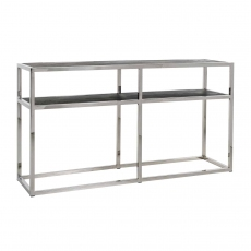 Blackbone Wall Table - Silver Collection