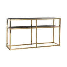 Blackbone Wall Table - Gold Collection