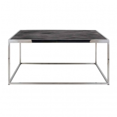 Blackbone 90 x 90cm Coffee Table - Silver Collection