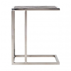 Blackbone Sofa Table - Silver Collection