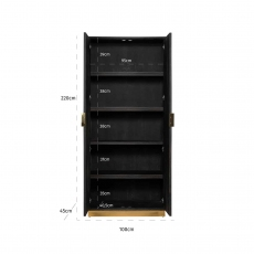 Blackbone Wall Cupboard (High) - Gold Collection
