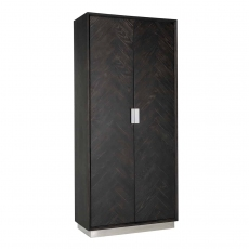 Blackbone Wall Cupboard (High) - Silver Collection